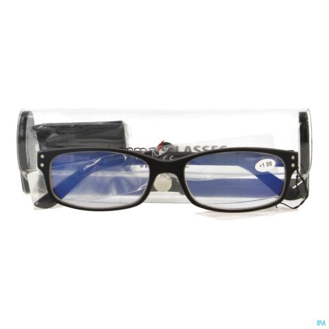 PHARMAGLASSES VISIONBLUE PC01 LEESBRIL +1.00 BLACK