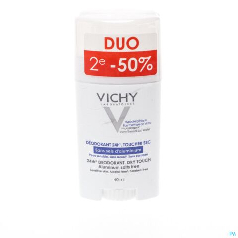 VICHY DEO REACT. H Z/ALU ZOUT STICK 24U DUO 2X40ML