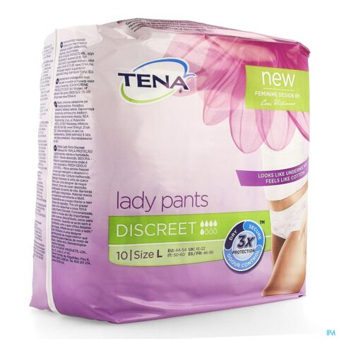 Tena Lady Pants Discreet Large 10 Stuks