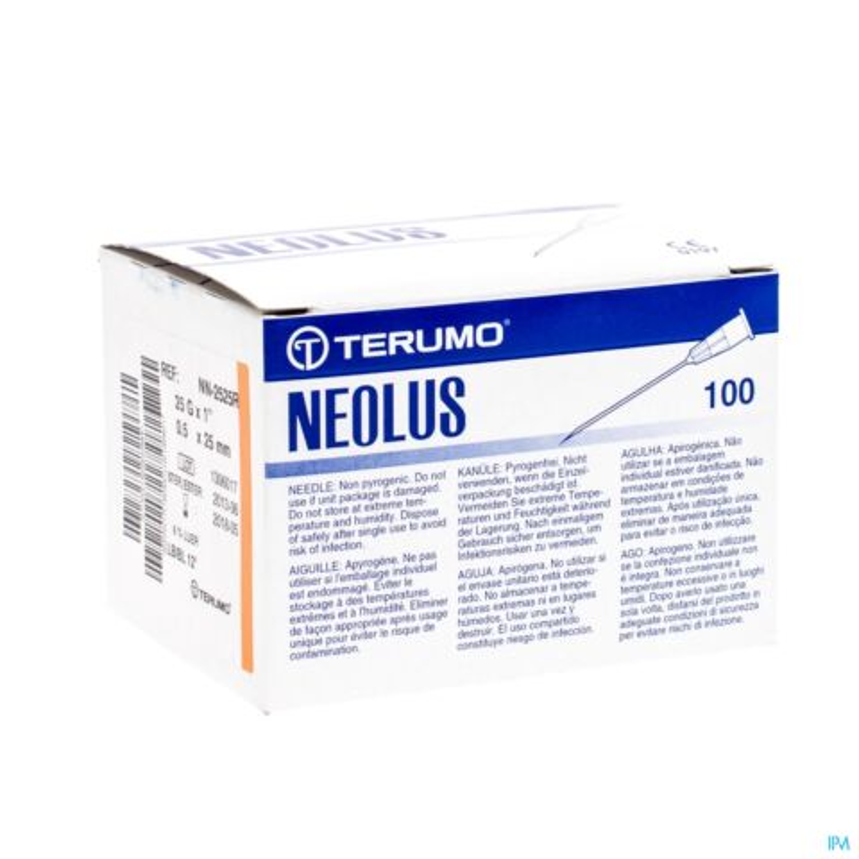 TERUMO NAALD NEOLUS 25G 1 RB ORANJE 100