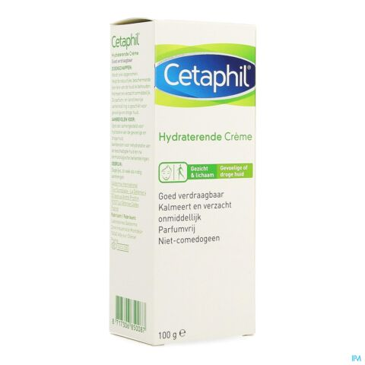 Cetaphil Creme Hydraterend Droge-Gevoelige Huid 100g