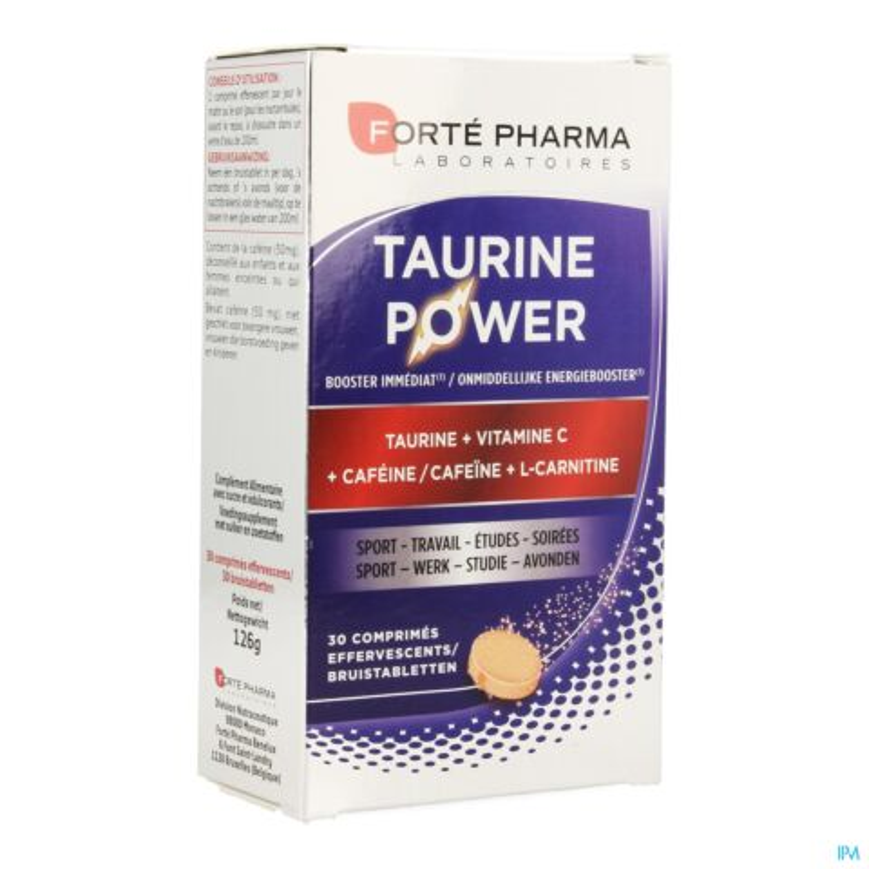 Forté Pharma Taurine Power 30 Bruistabletten