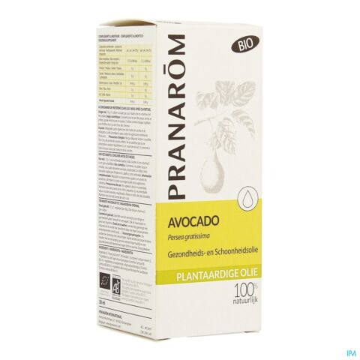 Pranarom Avocado Bio Plantaardige Olie 50ml