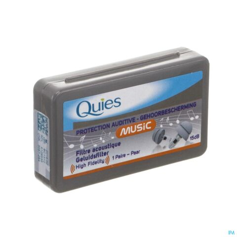 Quies Oordoppen Silicone Music 1 Paar
