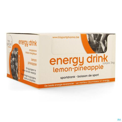 Trisportpharma Energy Drink Lemon-pineapple Poeder 12x34g
