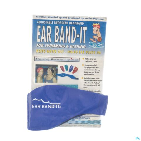 EAR BAND-IT ZWEMMEN NEOPREEN MEDIUM