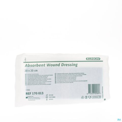 KLINION ABSORBEREND VERBAND 20X20CM S 1 4170013