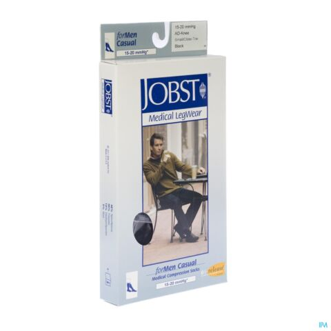 JOBST FOR MEN CASUAL K1 15-20 AD BLACK S 1P
