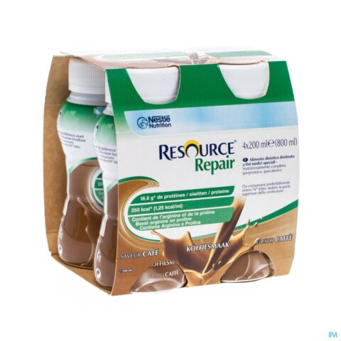 RESOURCE REPAIR KOFFIE FLES 4X200ML
