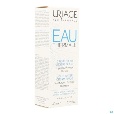 Uriage Thermaal Water Lichte Watercrème SPF20 Tube 40ml