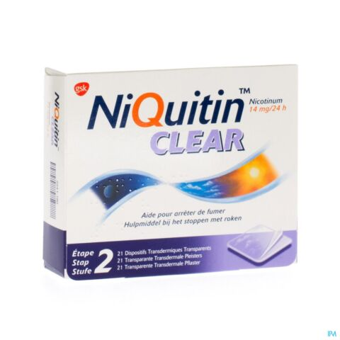 Niquitin Clear 14mg 21 Pleisters