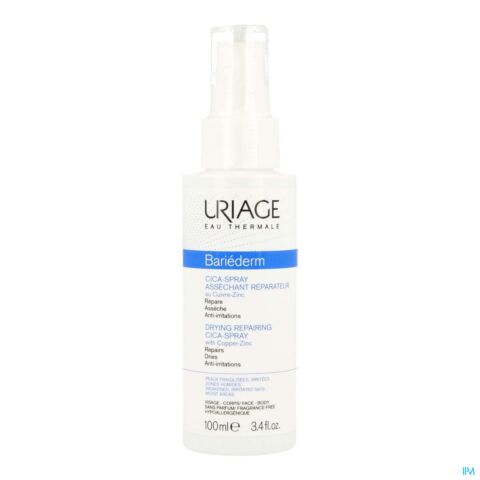 Uriage Bariéderm Cica-Spray Uitdrogende Herstellende Spray met Koper-Zink 100ml