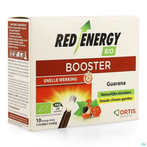 Ortis Red Energy Bio Zonder Alcohol 10x15ml