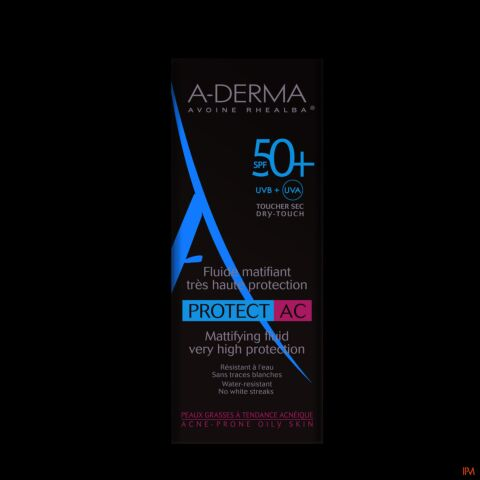 A-Derma Protect AC Matterende Fluide Acne SPF50+ 40ml