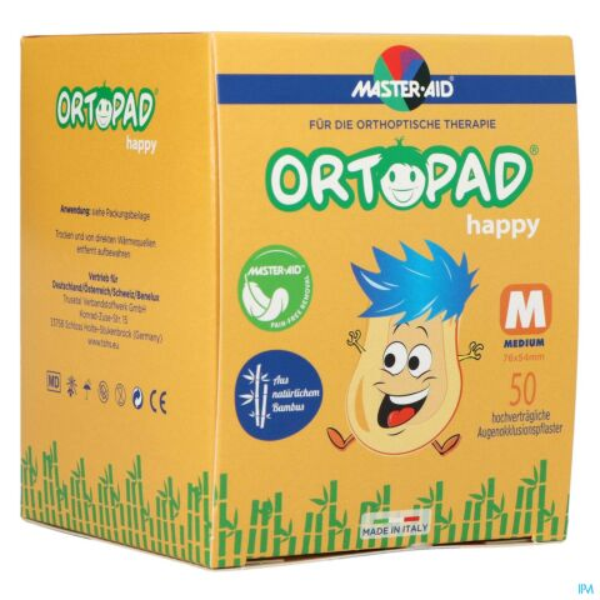 Ortopad Happy Medium Oogpleister 50 Stuks