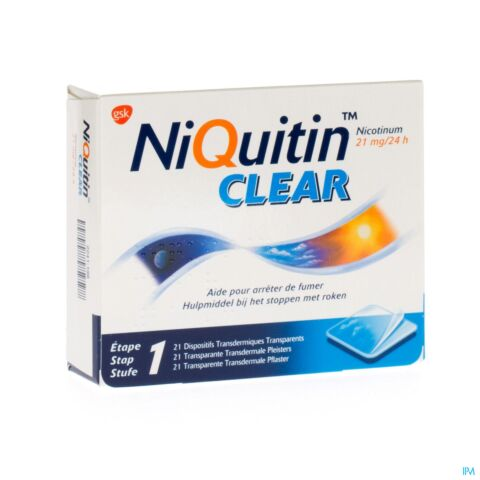 Niquitin Clear 21mg 21 Pleisters