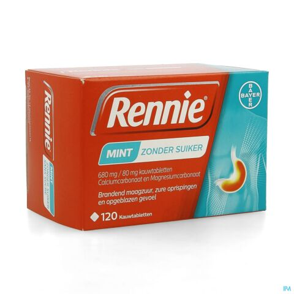 Rennie Zonder Suiker 120 Kauwtabletten
