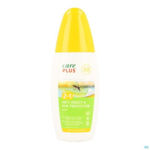 Care Plus 2-in-1 Anti-Insect & Sun Protection Spray SPF50 150ml