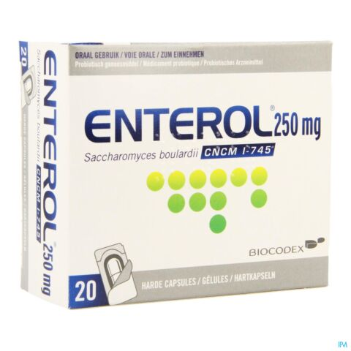 Enterol 250mg Caps Harde Dur S/blister 20x250mg