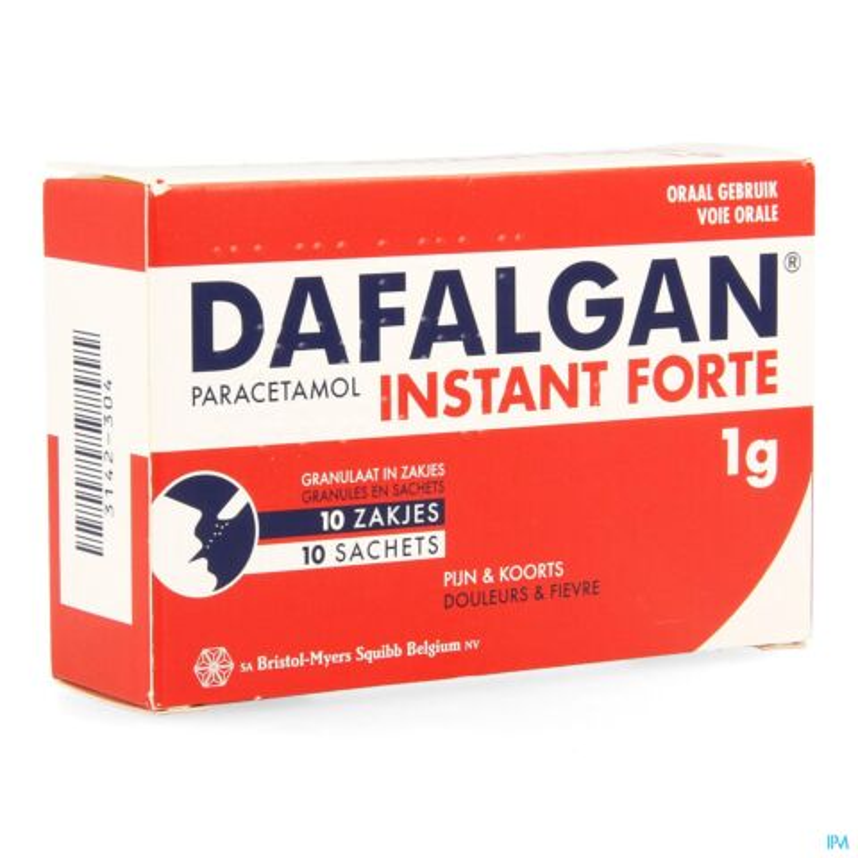 Dafalgan Instant Forte 1000mg 10 Zakjes Granulaat