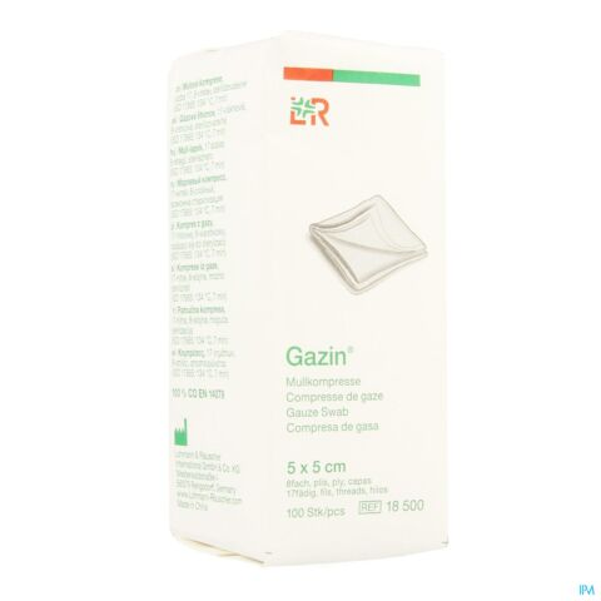 GAZIN KP N/STER 8P 5,0X 5,0CM 100 18500