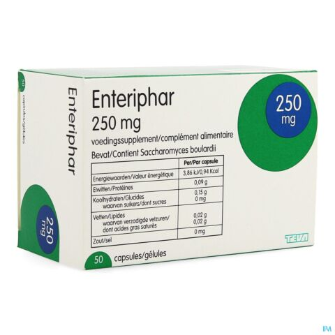 ENTERIPHAR CAPS 50X250MG