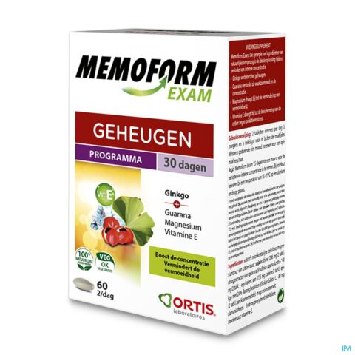 Ortis Memoform Exam 5x12 Tabletten