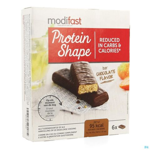 MODIFAST PROTEIN SHAPE REPEN CHOCOLADE 6X27G