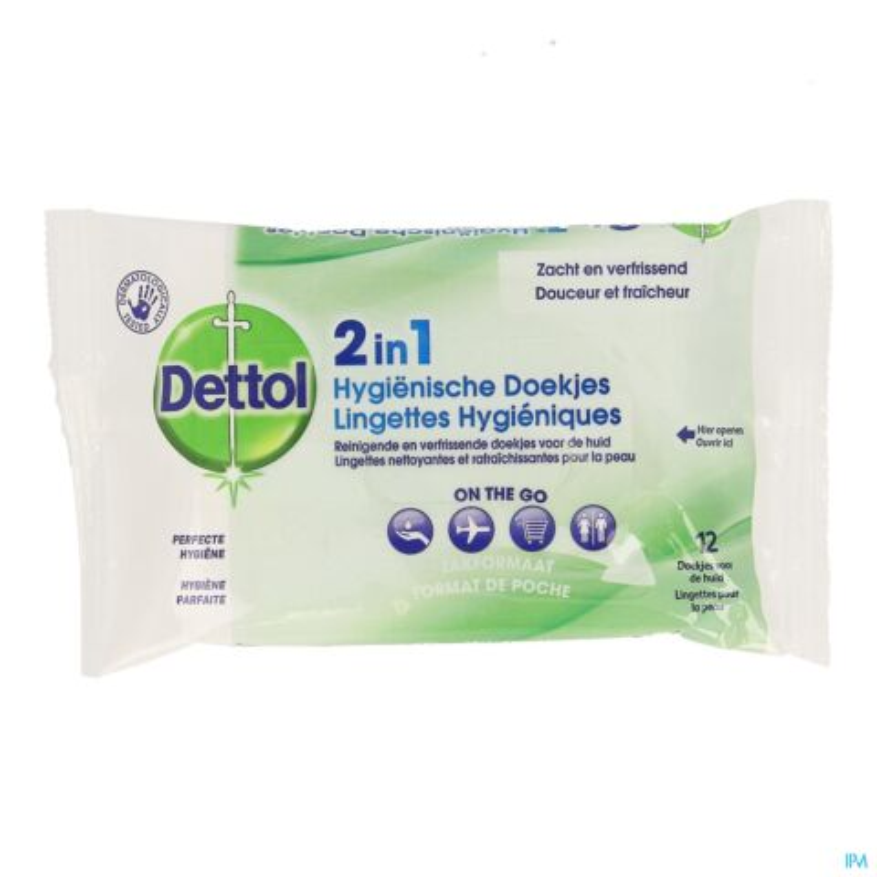 Dettol 2in1 Hygiënische Doekjes 12 Stuks