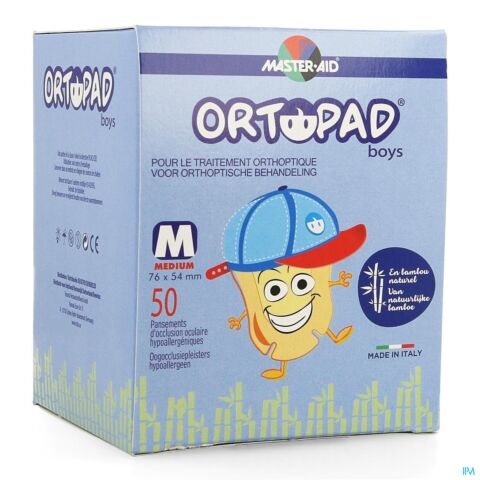 Ortopad Medium Boys Oogkompres 50 Stuks