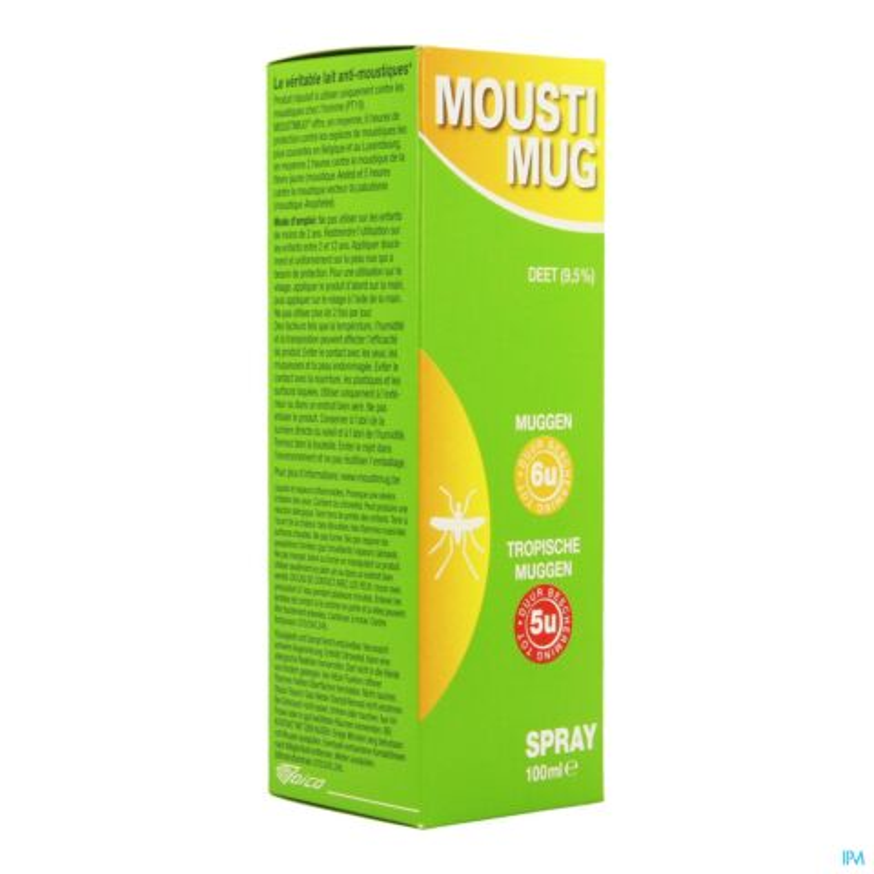 Moustimug Kids 9,5% DEET Spray 100ml