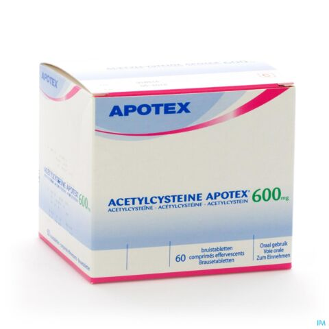 ACETYLCYSTEINE APOTEX COMP EFF 60 X 600 MG
