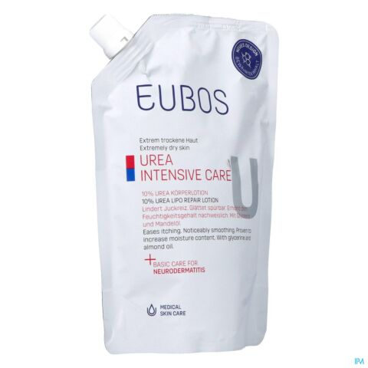Eubos Urea 10% Bodylotion Droge Huid Refill 400ml