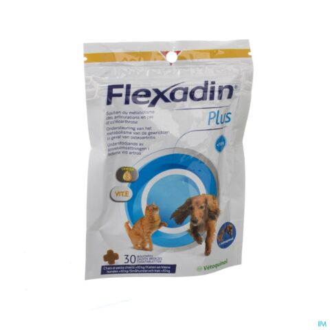 Flexadin Plus Mini Veterinair 30 Kauwtabletten