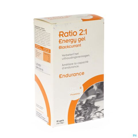 Trisport Pharma Ratio 2:1 Energy Gel Blackcurrent Zakje 10x50g