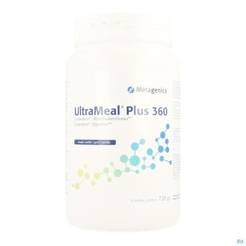 ULTRAMEAL PLUS 360 VANILLE POT 728G METAGENICS