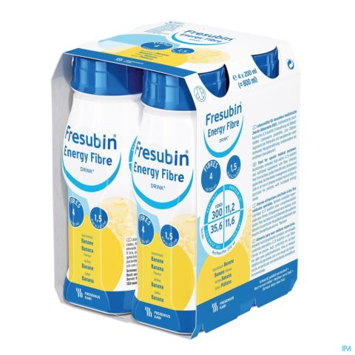 FRESUBIN ENERGY FIBRE DRINK BANAAN 4X200ML 7023601