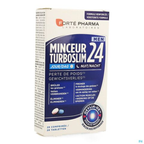 Turboslim 24 Dag/Nacht Man 28 Tabletten