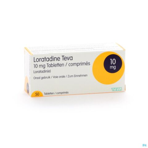 Loratadine Teva 10mg 50 Tabletten