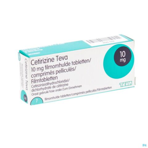 Cetirizine Teva 10mg 7 Tabletten