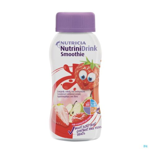 NUTRINIDRINK SMOOTHIE RODE VRUCHTEN FL 200ML