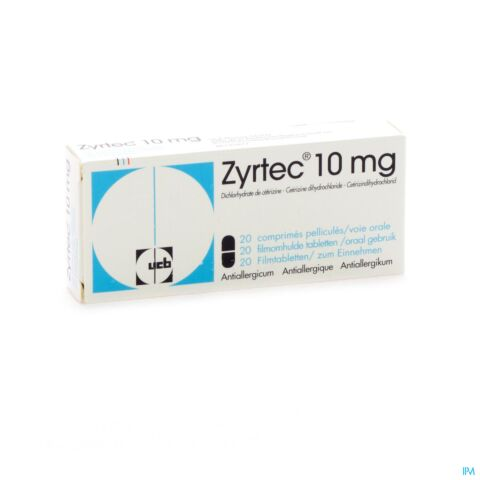 Zyrtec 10mg 20 Tabletten