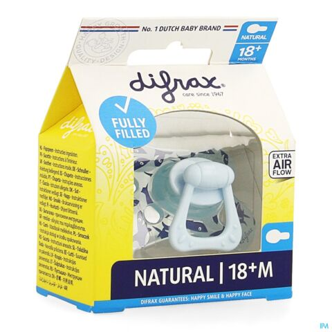 Difrax Fopspeen Natural +18M Boy