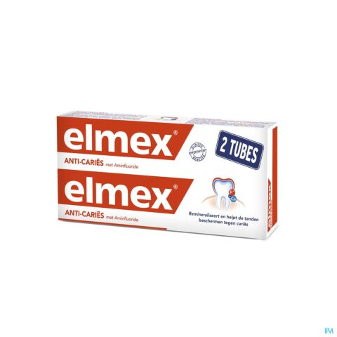 Elmex Tandpasta Anti-Caries Volwassenen 2 X 75ml Promo
