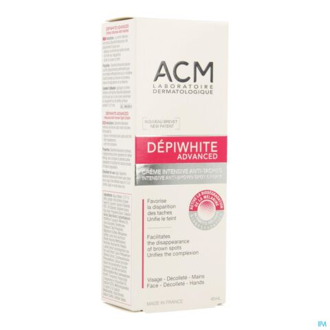 DEPIWHITE ADVANCED CREME DEPIGMENT. TUBE 40ML
