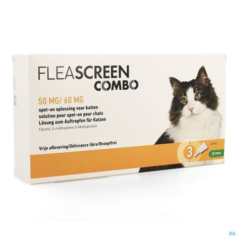 Fleascreen Combo 50mg/60mg Spot On Kat Pipet 3