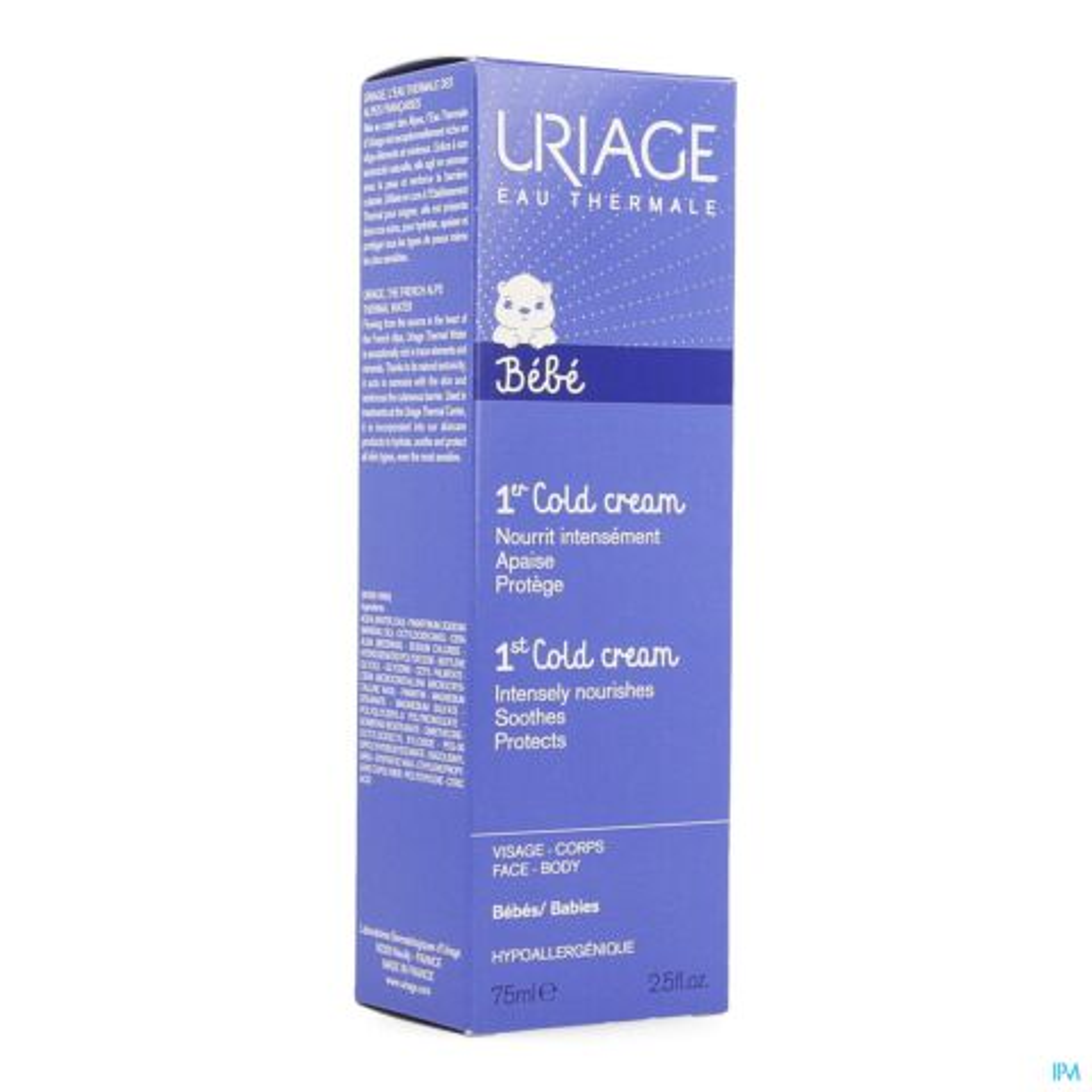 Uriage 1ste Cold Cream Baby Sterk Voedende Crème Tube 75ml