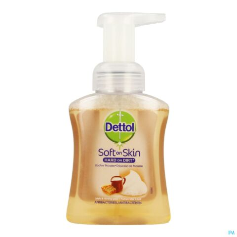 Dettol Healthy Touch Mousse Wasgel Melk-Honing 250ml