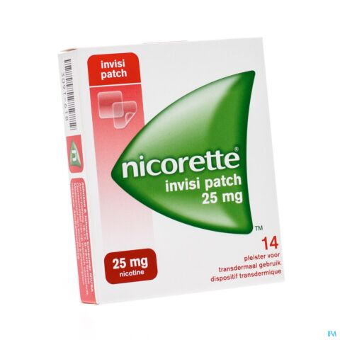 Nicorette Invisible 25 Mg Patch 14