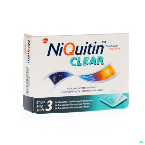 Niquitin Clear 7mg 14 Pleisters